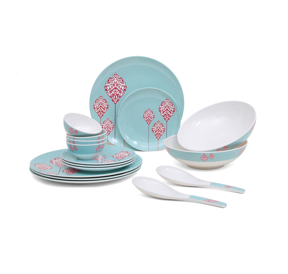 Buy Classic 16 Pieces Dinner Set - @home by Nilkamal, Sea Green ...