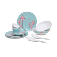 Classic 16 Pieces Dinner Set - @home by Nilkamal, Sea Green