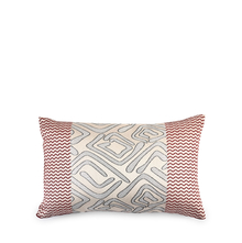 Geo 30 cm x 45 cm Filled Cushion - @home by Nilkamal, Maroon