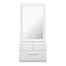 Theia High Gloss Dresser with Mirror - @home by Nillkamal, White