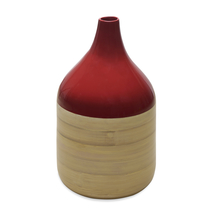 Spun Bamboo Small Vase - @home by Nilkamal, Maroon