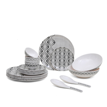 Classic 22 Pieces Dinner Set - @home by Nilkamal, White