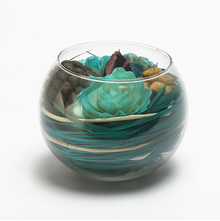 Jasmine Bowl Arrangement Potpourri - @home by Nilkamal, Blue