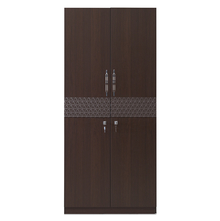 Triumph 2 Door Wardrobe - @home Nilkamal,  dark walnut