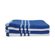 Face Towel 30 X 30 cm Set of 4 - @home by Nilkamal, Indigo & White
