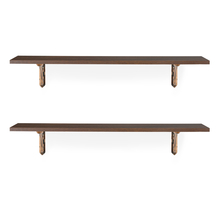 Romantic & Fern Medium Wall Shelf Set of 2 - @home by Nilkamal, Mahogany