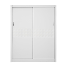 Theia High Gloss Sliding Wardrobe - @home by Nilkamal, White