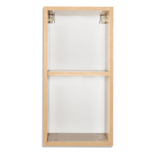 Croissant Storage Cabinet Wall Mount Without Door - @home By Nilkamal, White & Teak