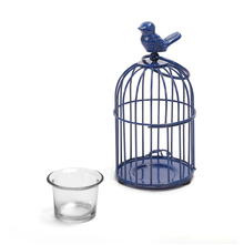 Bird Cage Votive Holder - @home by Nilkamal, Indigo