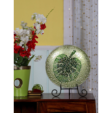 Platter Trop with Stand 31CM, Green