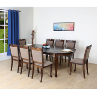 New Port 8 Seater Dining Kit, Capucino