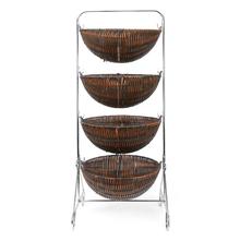 3 Tier PP Storage Basket - @home by Nilkamal, Beige