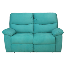 Midas 2 Seater Sofa with 2 Manual Recliner, Arctic Teal