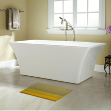 40'x60' Gradation Macro Bathmat @home By Nilkamal, Yellow