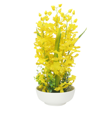 Yellow Orchid Flower Potted Plant - @home by Nilkamal, Yellow