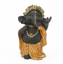 Baby Ganapati 3 Showpiece - @home by Nilkamal, Gold