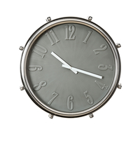 Drummers Time Wall Clock - @home by Nilkamal, Grey