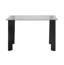 Janet 4 Seater Dining Table With Top Glass, Clear