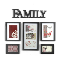 Family 5 Piece Combo Vista Photo Frame, Black