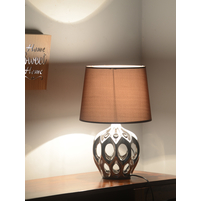Regal Glaze 30X30X41CM Medium Table Lamp, Silver