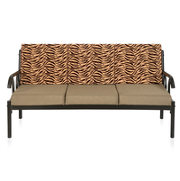 Ginny 3 Seater Sofa - @home by Nilkamal, Black & Brown