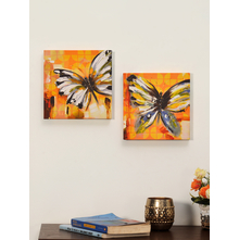 Urban Butterflies Picture Frame Set of 2 - @home by Nilkamal, Yellow