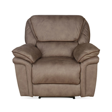 Fuzzy 1 Seater Sofa with Electric Recliner, Mocha Brown