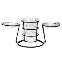 Snack Serving Bowl with Metal Stand Set of 4 - @home by Nilkamal, Multicolor