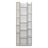 Caper Oak Open Book Shelf - @home By Nilkamal, White