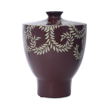 Earthy Wines Small Vase - @home by Nilkamal, Maroon