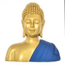 Buddha Bust Shrine Showpiece -@home by Nilkamal, Indigo