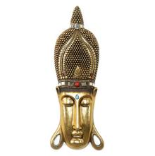 Butsu Full Face Crown Showpiece - @home by Nilkamal, Gold & Brown