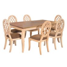 Miraya 6 Seater Dining Set - @home By Nilkamal, Brown Glaze
