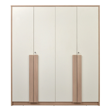 Polar 4 Door Wardrobe - @home By Nilkamal, White Oak