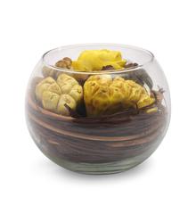 Lemon Bowl Arrangement Potpourri - @home by Nilkamal, Yellow