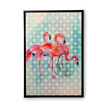 Earthy Flamingos Picture Frame - @home by Nilkamal, Maroon