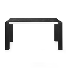 Fortica 6 Seater Dining Table, Black &White Marble