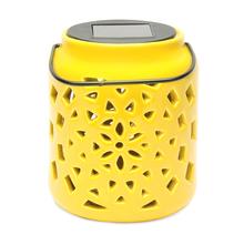 Solar 11 cm x 11 cm x 14 cm Lantern - @home by Nilkamal, Yellow