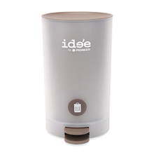 Idee 11 Litre Pedal Round Dustbin - @home by Nilkamal, Brown
