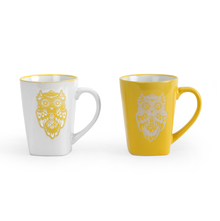Wise Owl Coffee Mug Set of 2 - @home by Nilkamal, Yellow