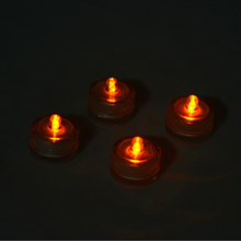 LED Floating Flameless Candle Set of 4 - @home by Nilkamal, Clear