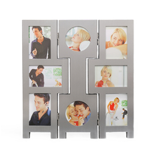Folding 2 Collage Table Photo Frame - @home by Nilkamal, Silver