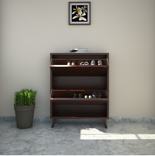 Martin 2 Tier Shoe Cabinet - @home by Nilkamal, Walnut