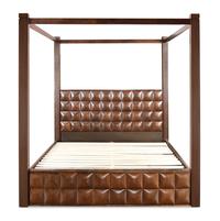 David Queen Bed with Storage - @home by Nilkamal, Dark Walnut