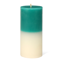 Jasmine Medium Two Tone Wax Candle - @home by Nilkamal, Blue