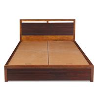 Tiara Queen Bed - @home by Nilkamal, Honey Brown