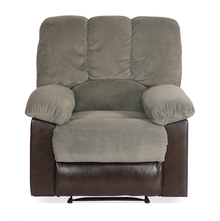Miller 1 Seater Sofa with Manual Recliner - @home by Nilkamal, Taupe Brown