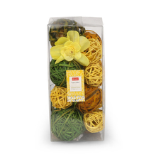 Eden Lemon Grass 20 cm Deco Balls Potpourri -@home by Nilkamal, Yellow