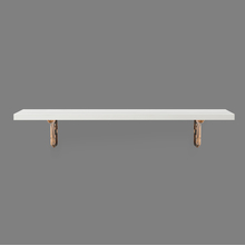 Romantic & Janus Medium Wall Shelf - @home by Nilkamal, White