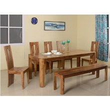 New Granada 1+ 5+ Bench Dining Kit, Natural Walnut